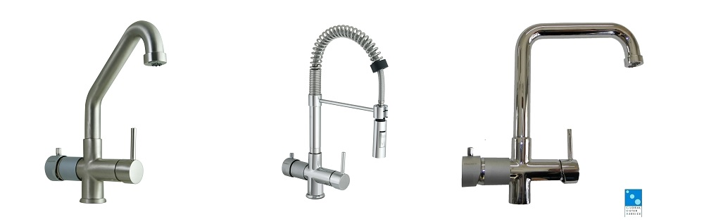 Five way mixer taps