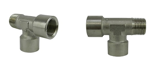 Hydraulic T-shaped fittings