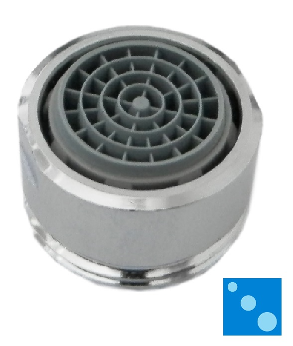Small faucet aerator for mixer taps