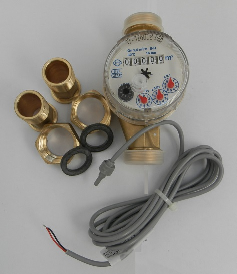 Mechanical pulse water meter 1/2""