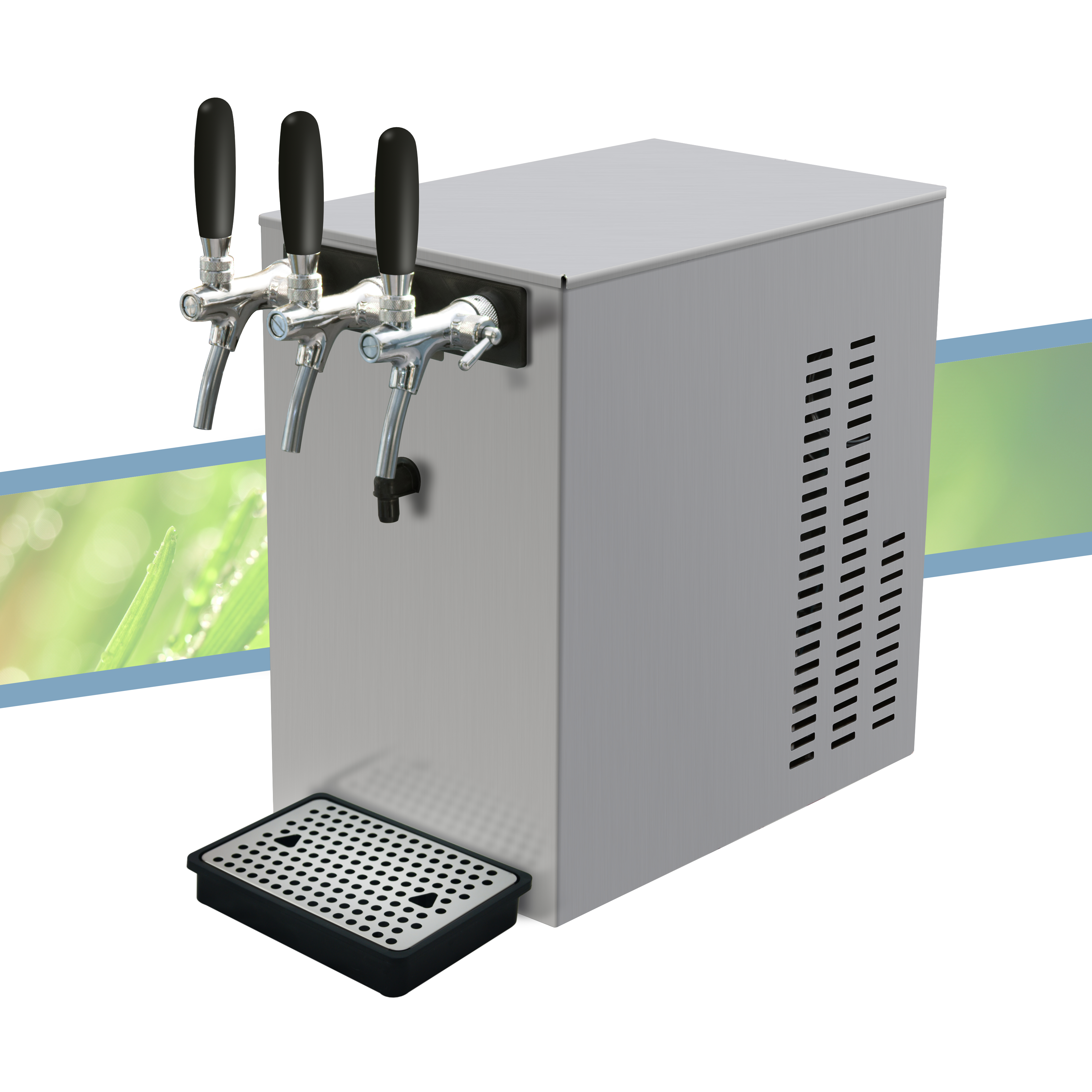 MF60 countertop water dispenser with taps