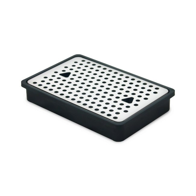 23x15 stainless steel and plastic rectangular drain grid